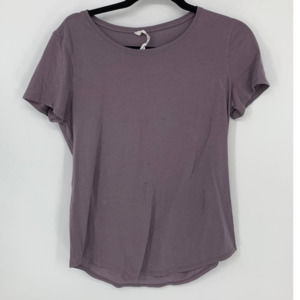 lululemon purple 8 workout tshirt